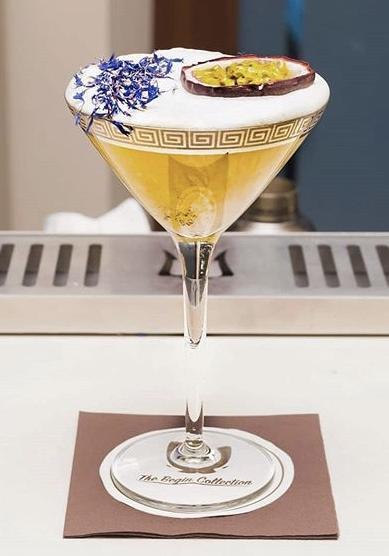 coppetta cocktail con passion martini